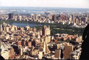 central park from helicopter