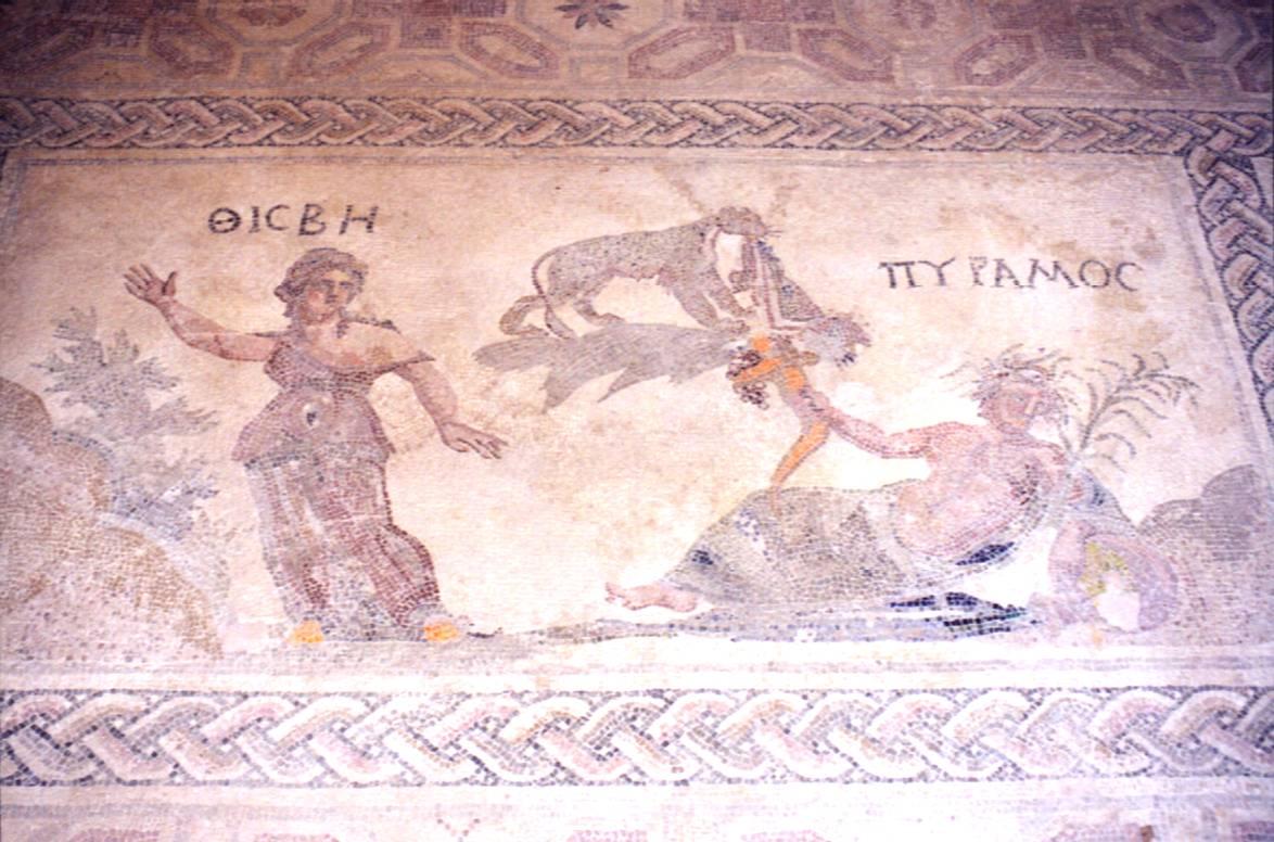 Mosaik im Haus des Dionysos in Káto Páphos.